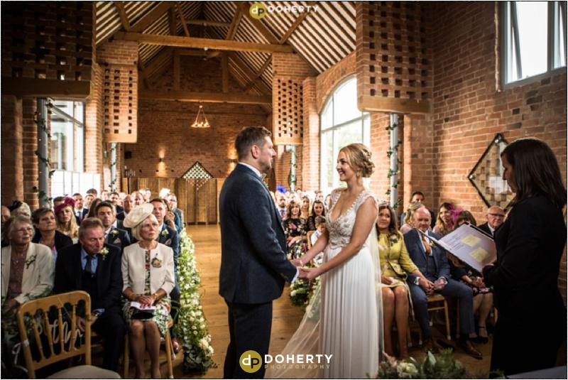 Swallows Nest Barn Wedding Ceremony