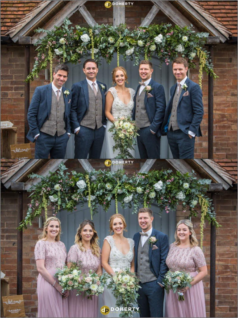 Swallows Nest Barn Wedding Group Party