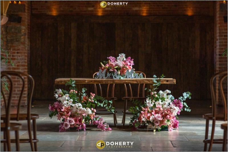 Wedding Flowers - Shustoke Barn