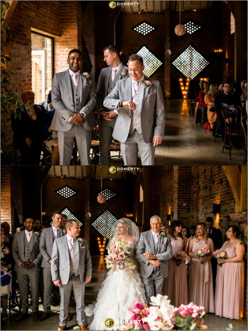 Wedding Bride entrance - Shustoke Barn