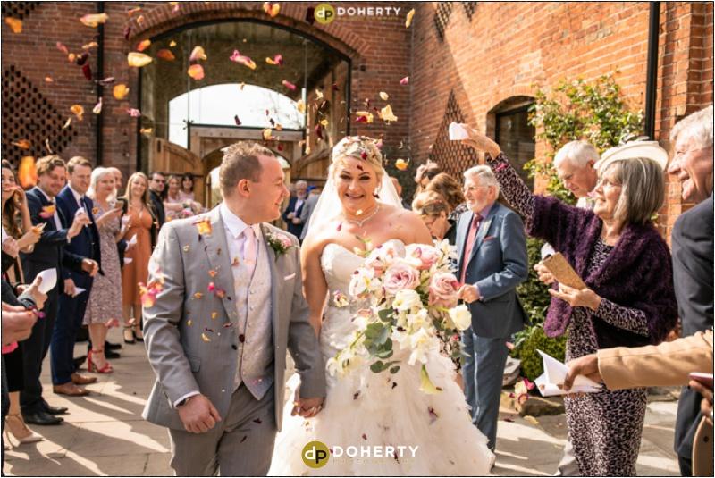 Wedding Confetti - Shustoke Barn