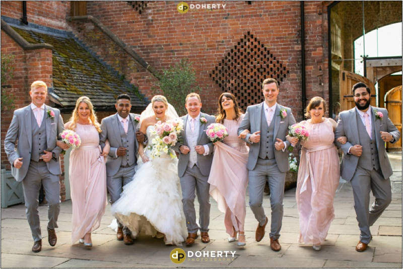 Wedding Bridal Party - Shustoke Barn