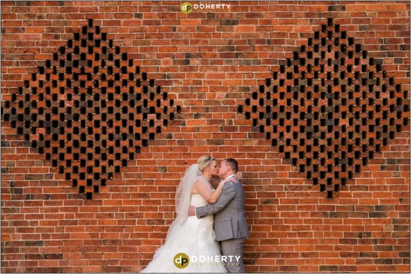 Wedding Bride and Groom - Shustoke Barn