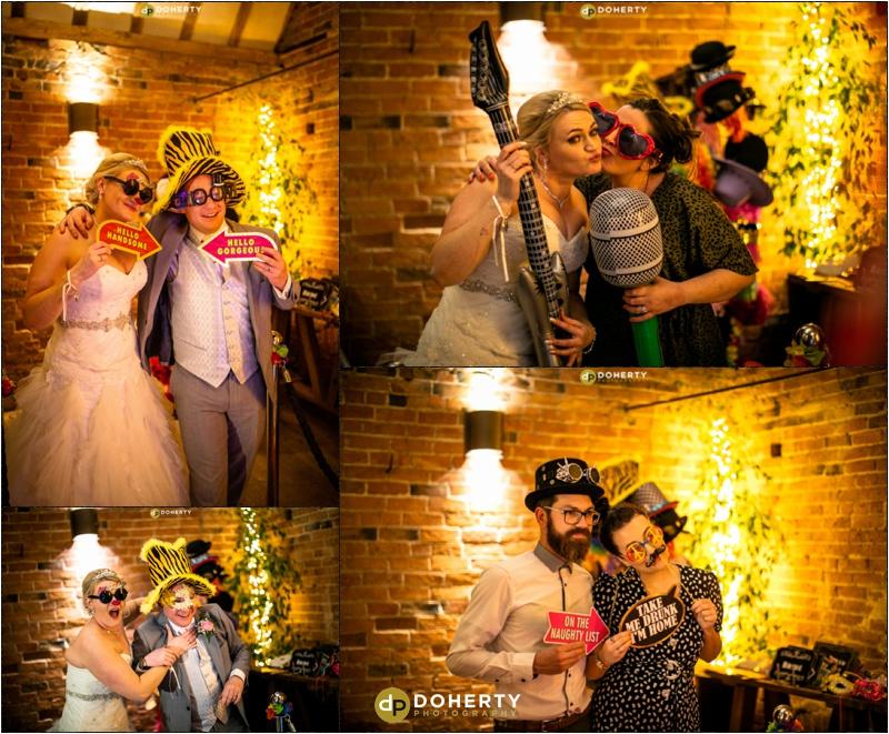 Wedding Party Booth - Shustoke Barn