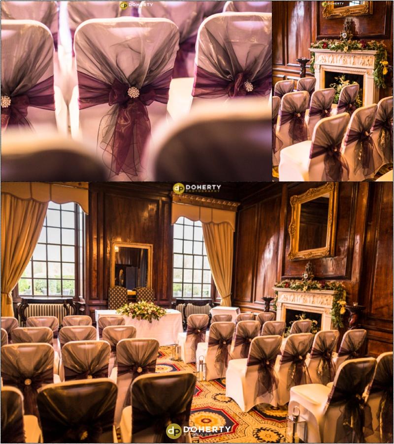 Coombe Abbey Same-Sex Wedding Ceremony set-up