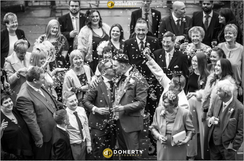 Coombe Abbey Same-Sex Wedding with Confetti