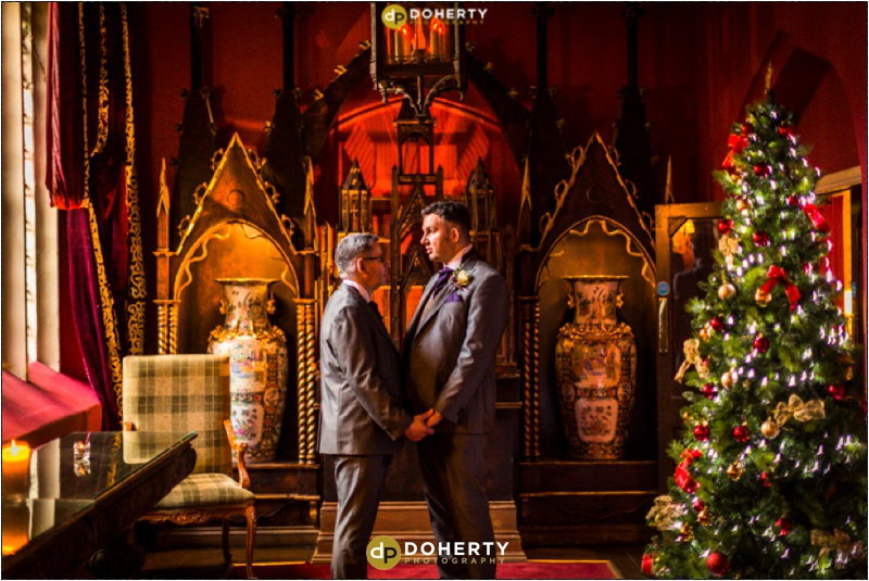 Coombe Abbey Same-Sex Wedding with Christmas Tree