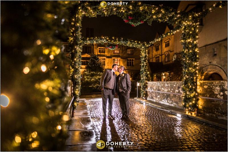 Coombe Abbey Christmas lights Wedding
