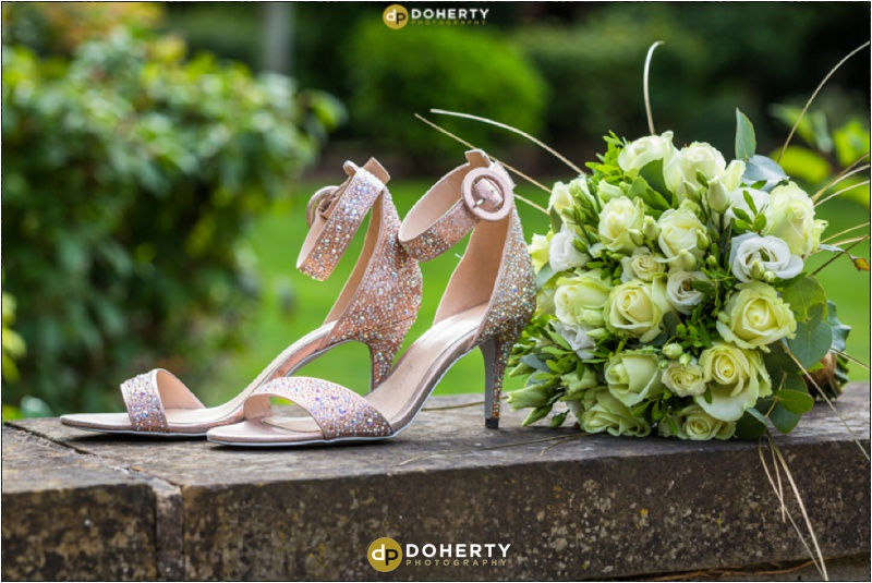 Windmill Village Wedding Flowers and shoes