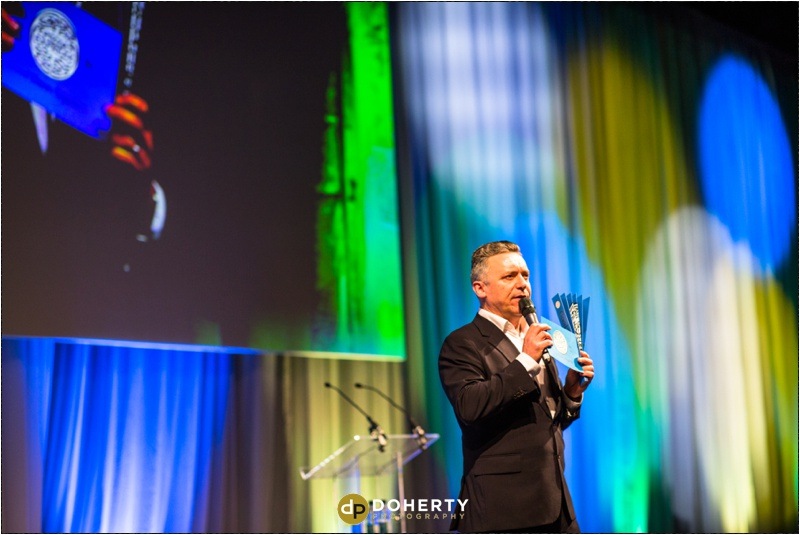 Corporate Photography - Pizza Express Speaker on Stage