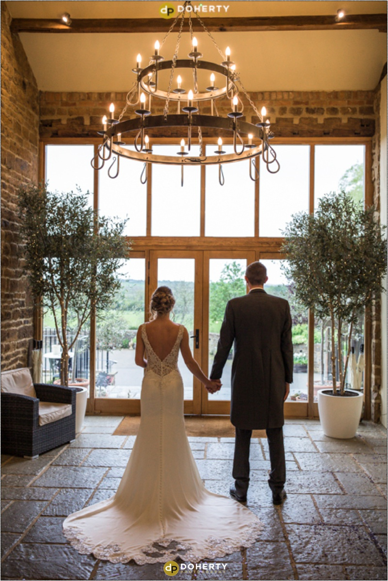 Crockwell Farm - Bride and Groom with Chandelier