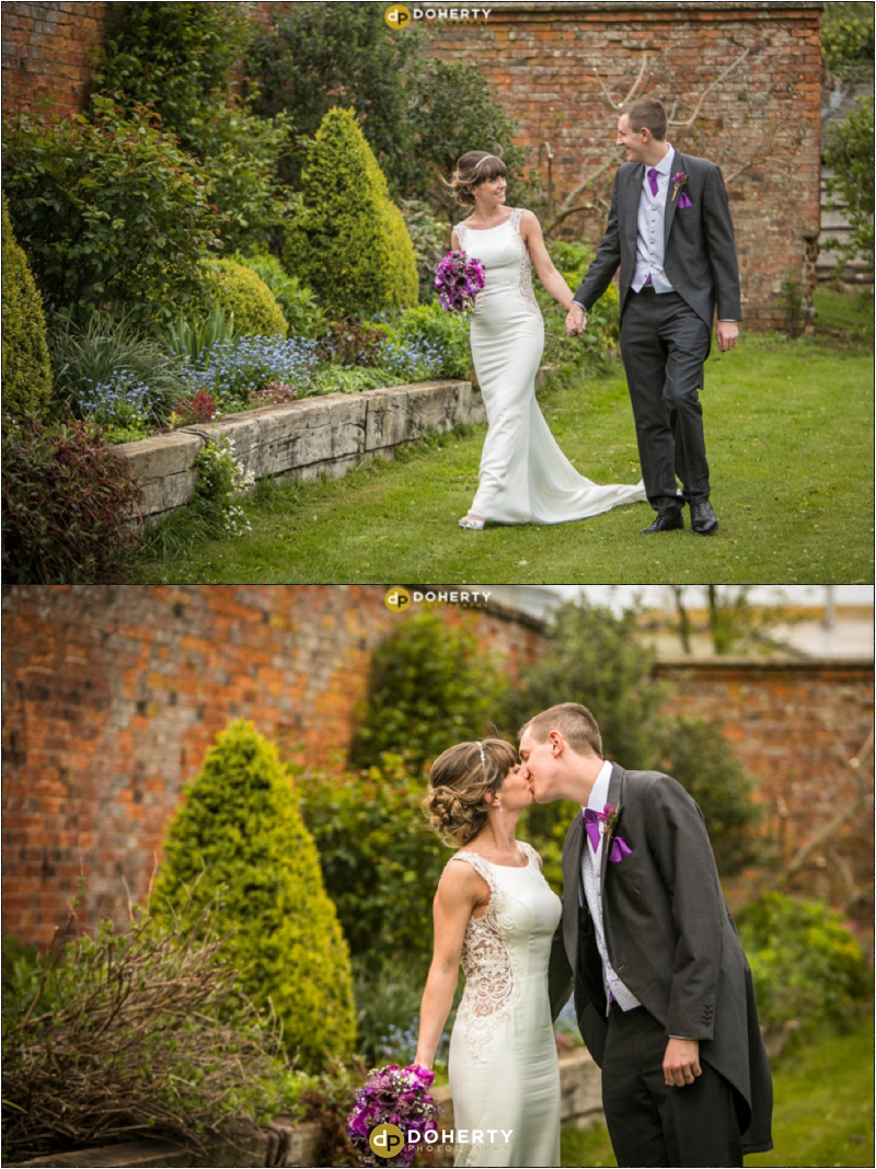 Crockwell Farm - Bride and Groom in Gardens
