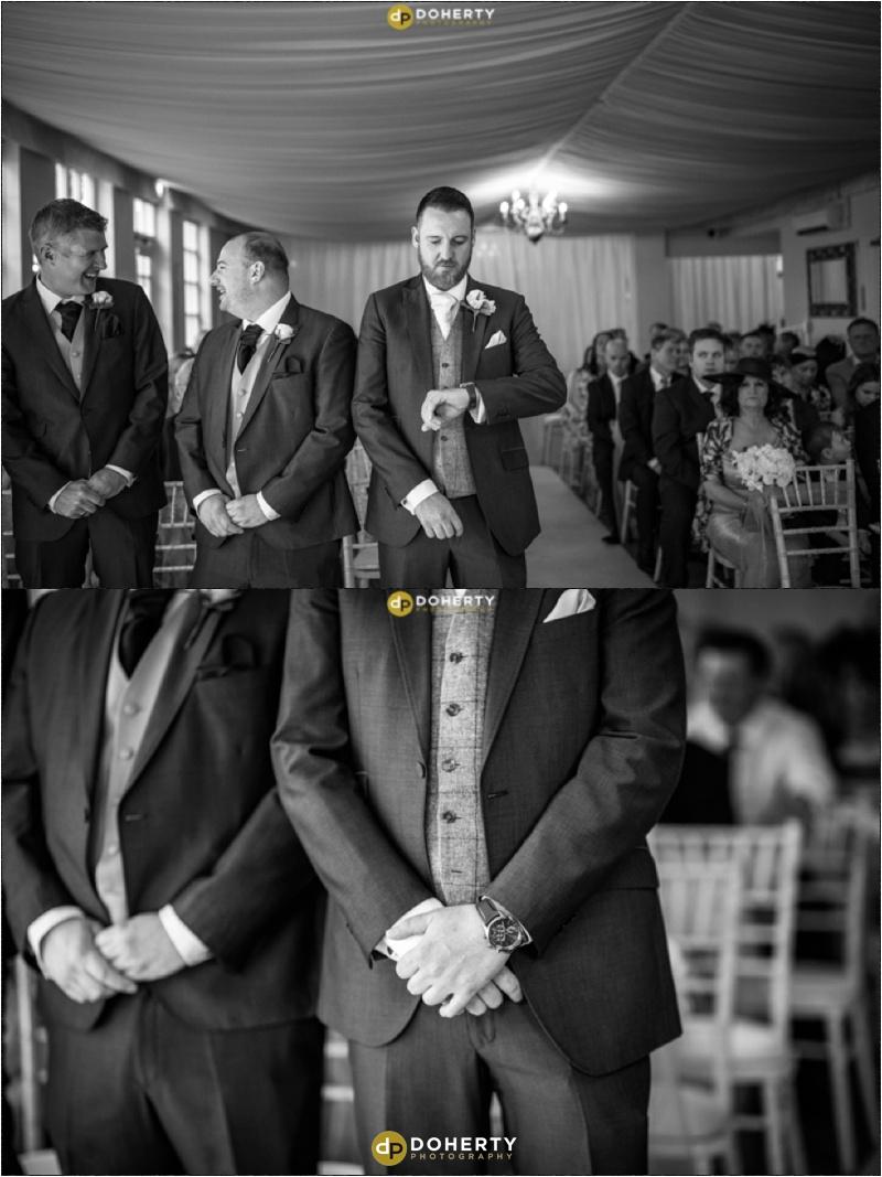 Warwick house Wedding Groom waiting