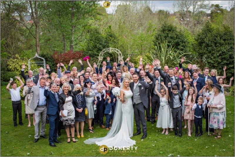 Warwick house Wedding Large Group Photo