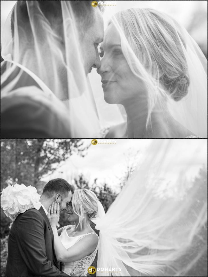 Warwick house Wedding Veil Blowing