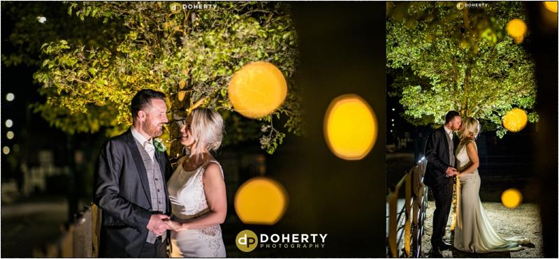 Warwick house Wedding Night Photography