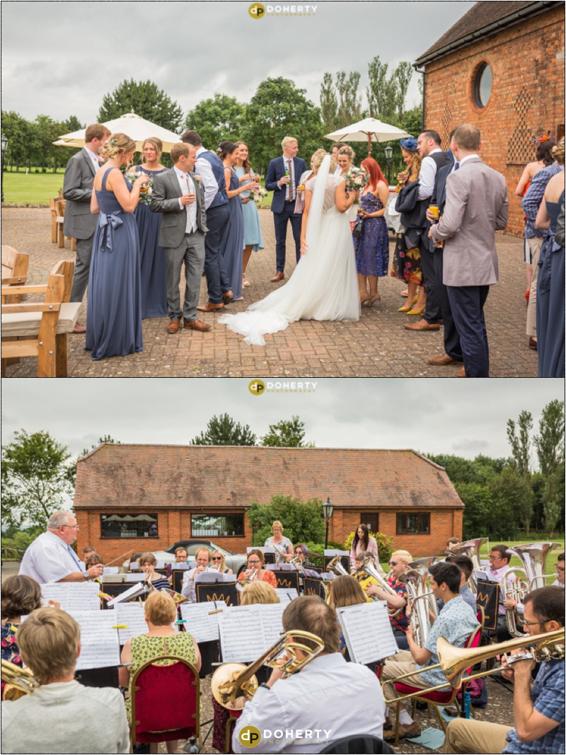 Stratford Park Hotel Wedding Band Playing