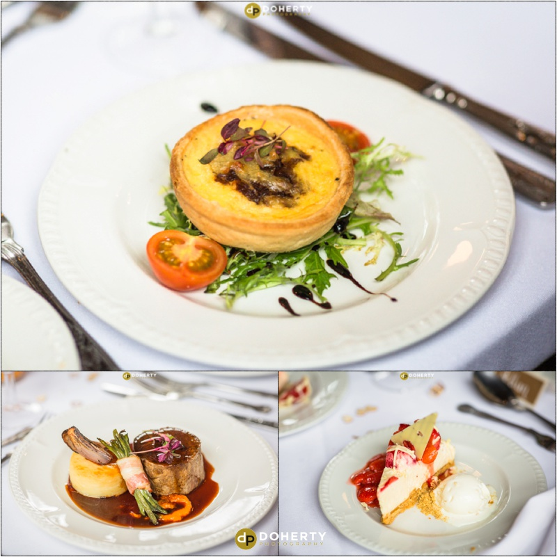 Stratford Park Hotel Wedding Food