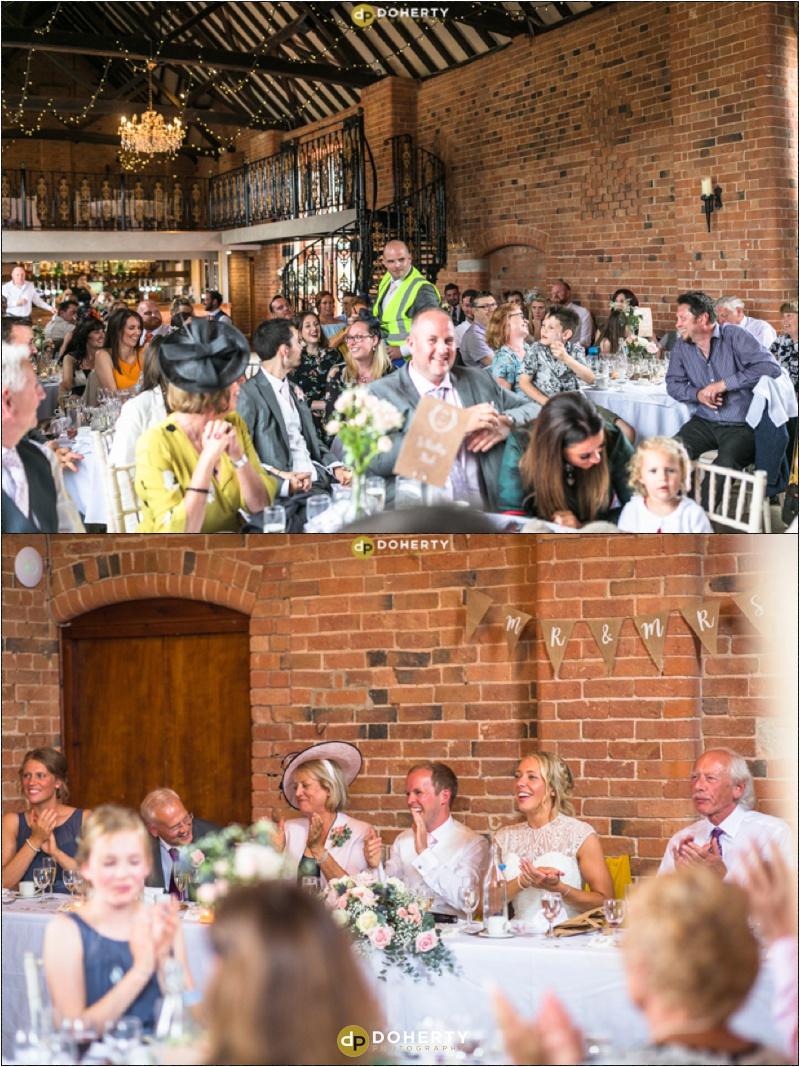 Stratford Park Barn Wedding Speeches