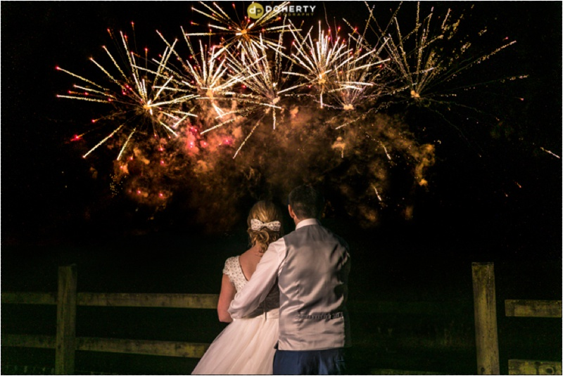 Solihull Wedding fireworks photography
