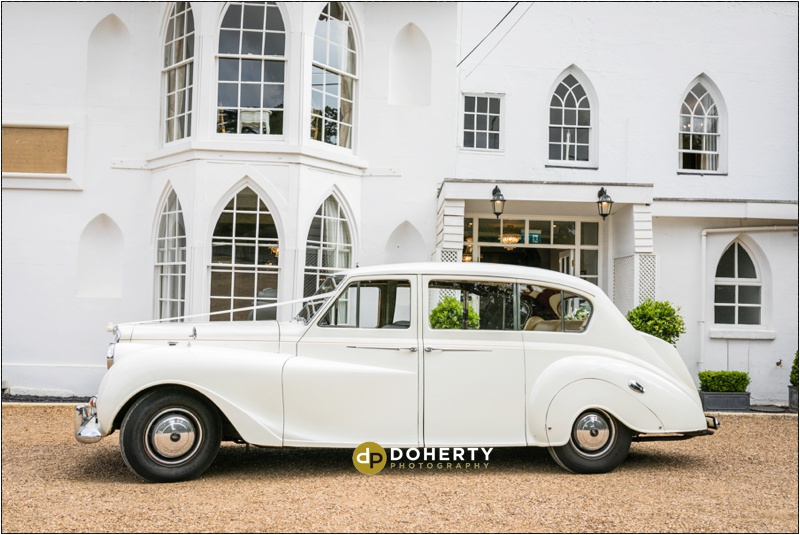Warwick House Wedding Car Photo