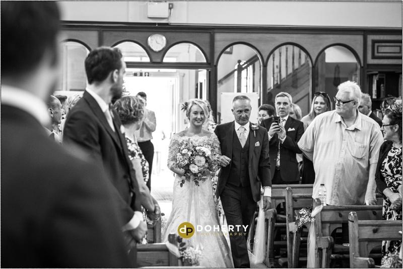 Warwick House Wedding Bride entrance