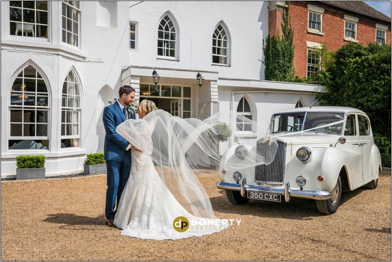 Warwick House Wedding Car Photograph