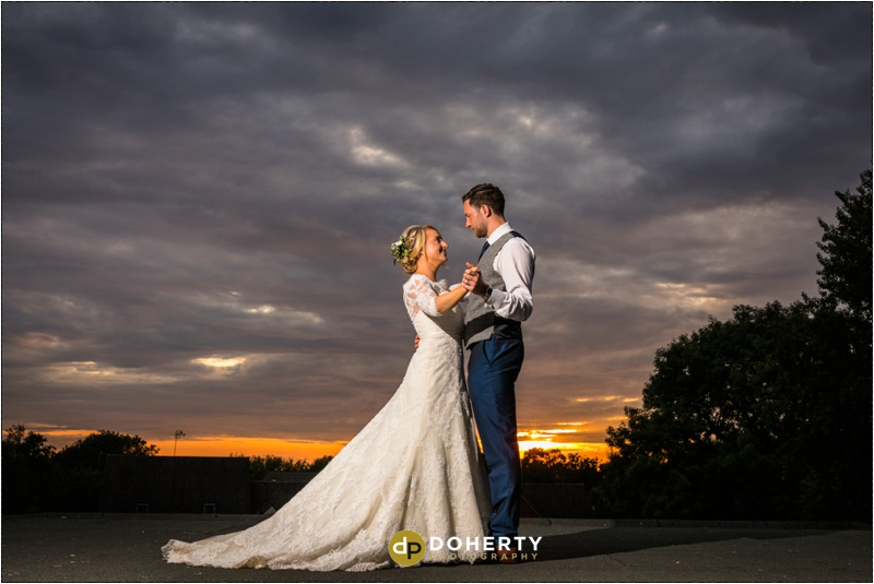 Warwick House Wedding Twilight Portraits