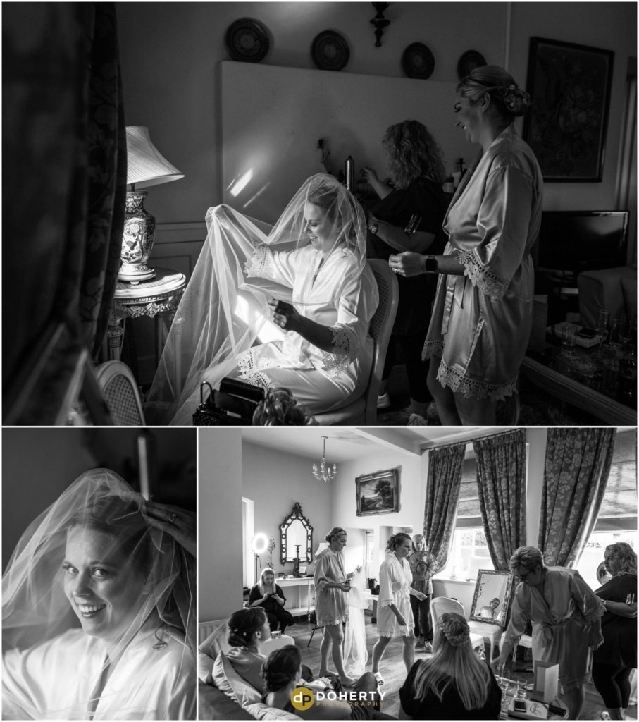 Bride preparations at Coombe Abbey