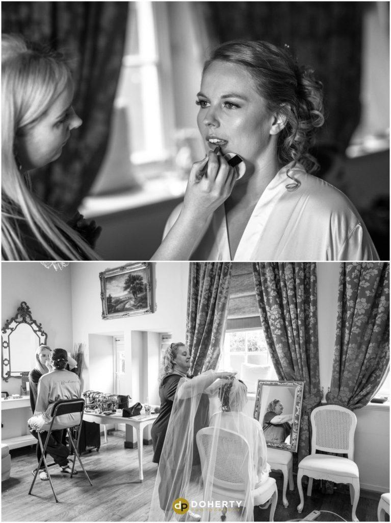Coombe Abbey Hotel Wedding bride preparations
