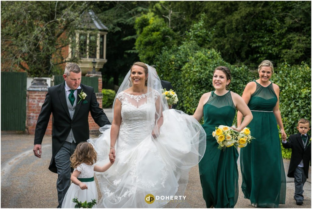 Coombe Abbey Hotel Wedding arrival