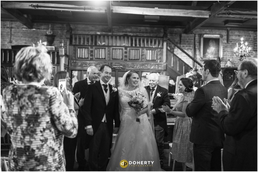Coombe Abbey Hotel Wedding couple married