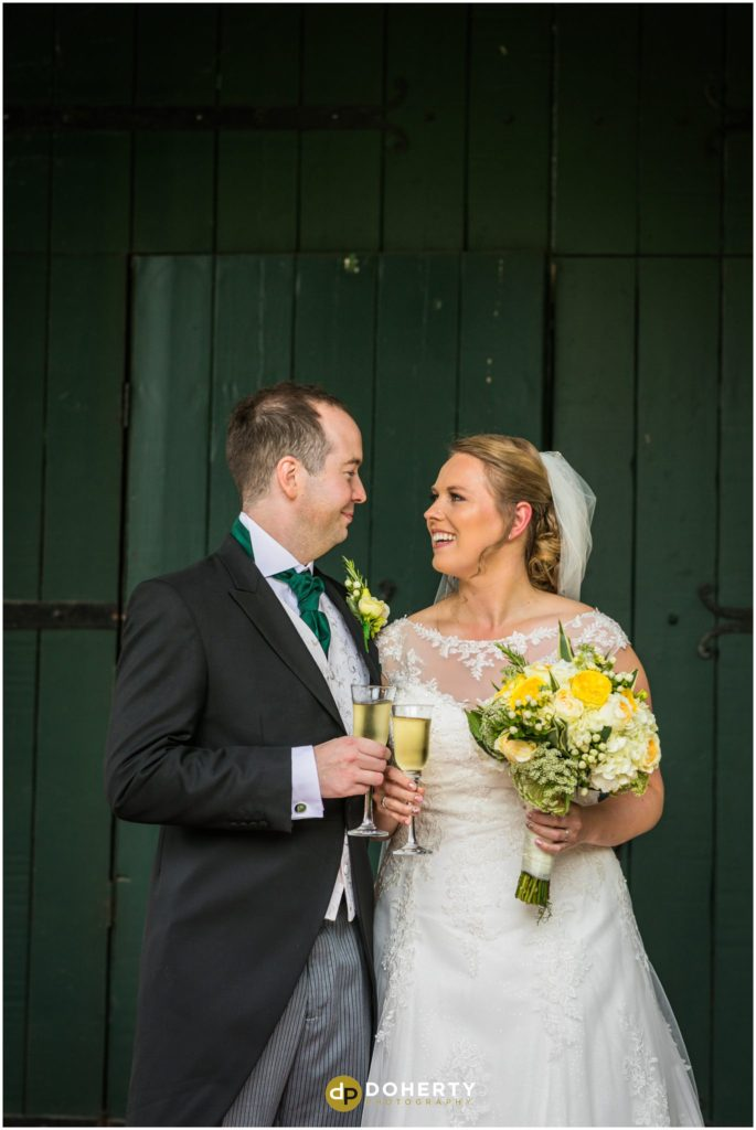 Coombe Abbey Wedding bride and groom