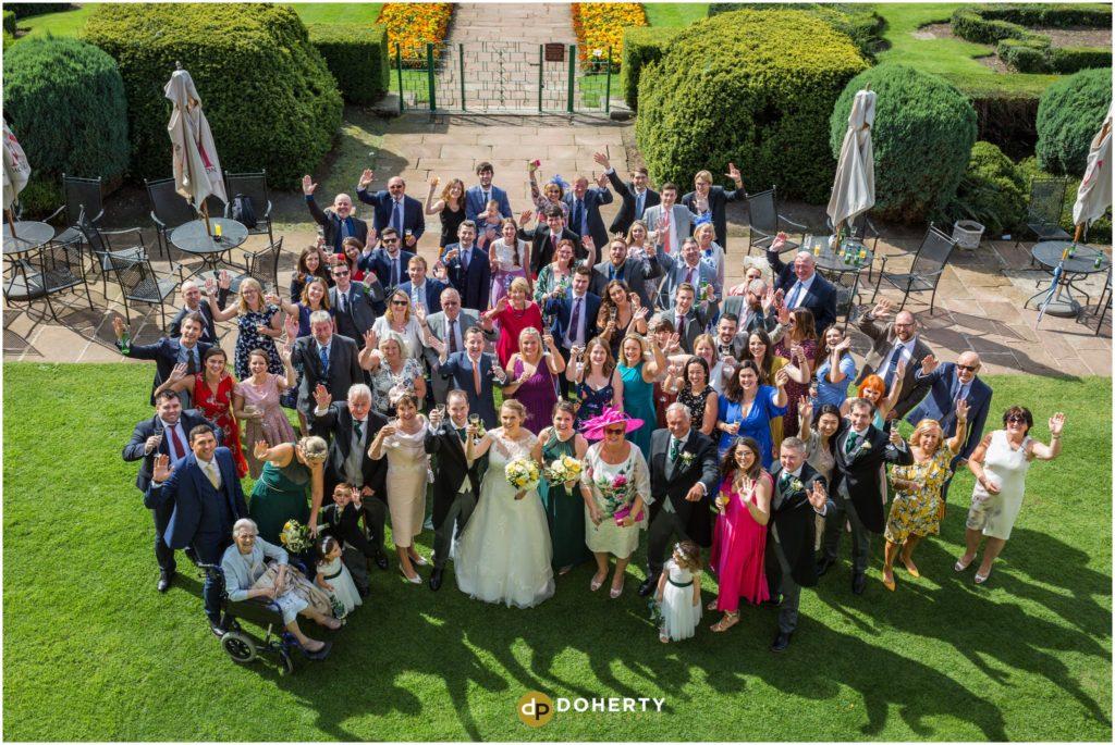 Coombe Abbey Hotel Wedding Large Group Photo