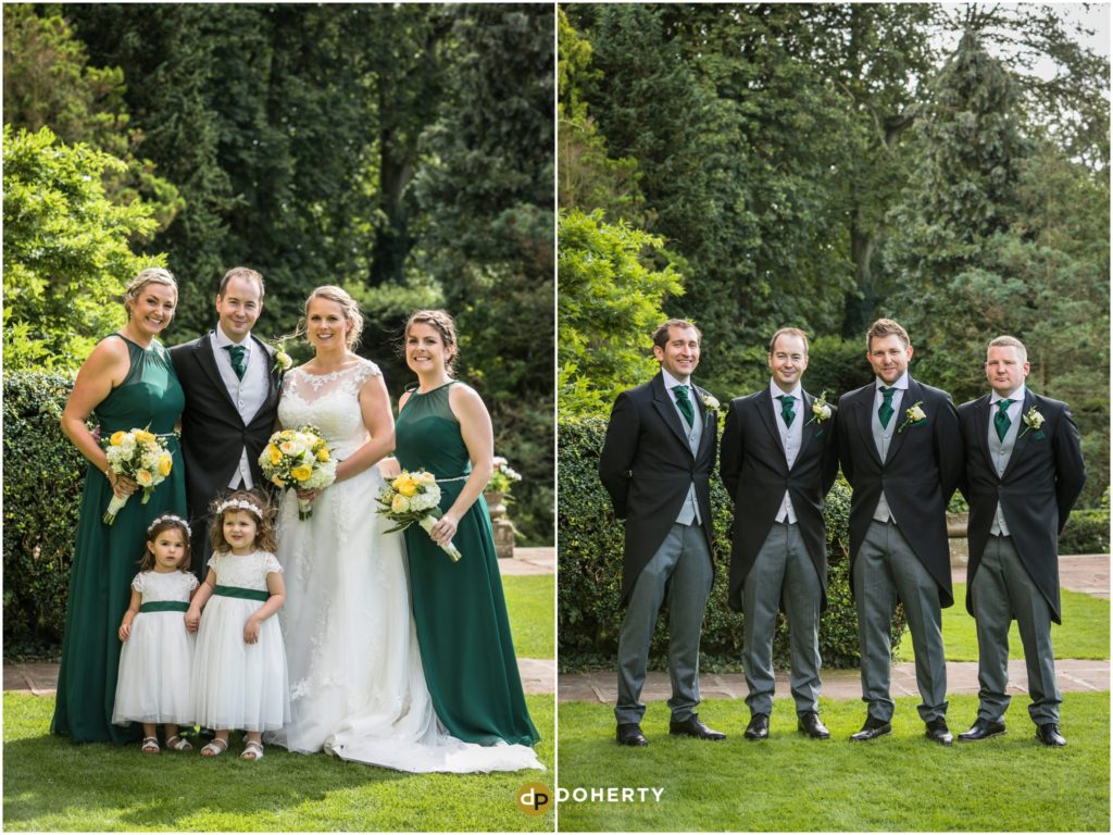 Coombe Abbey Hotel Wedding bridal party
