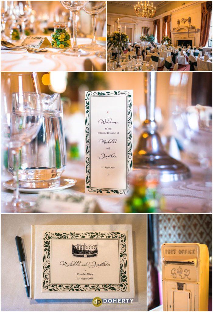 Coombe Abbey Hotel Wedding Venue setup