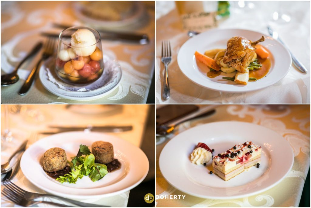 Coombe Abbey Hotel Wedding Food