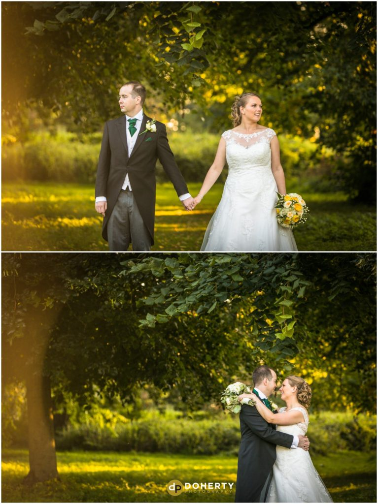 Coombe Abbey bride and groom