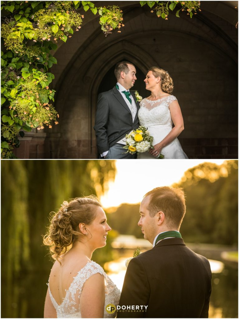 Coombe Abbey Hotel Wedding at Sunset