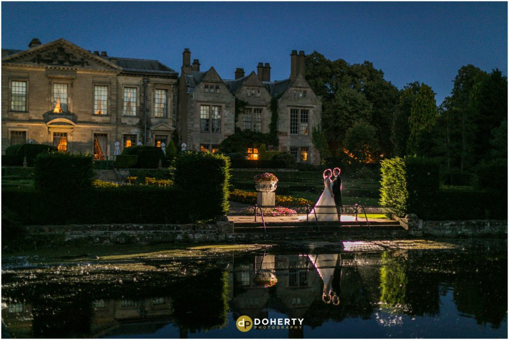 Coombe Abbey Hotel Wedding at night