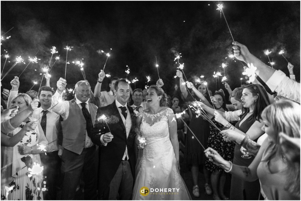 Coombe Abbey Hotel Wedding with Sparklers