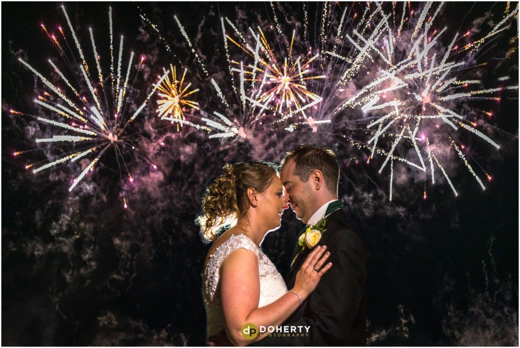 Fireworks at Coombe Abbey Wedding