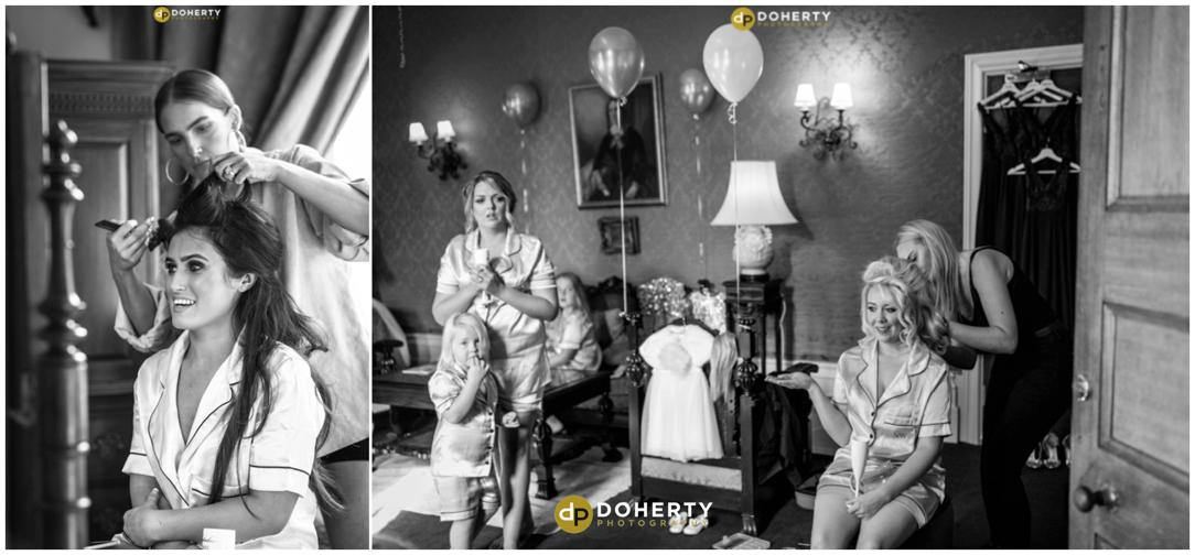 Coombe Abbey Hotel Wedding Preparation Photography