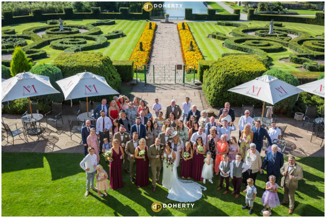 Coombe Abbey Hotel Large Group photo of wedding
