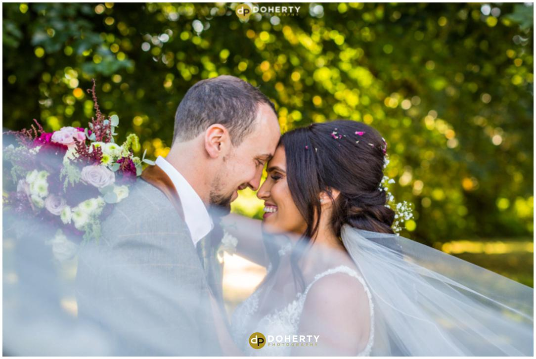 Coombe Abbey Wedding with veil