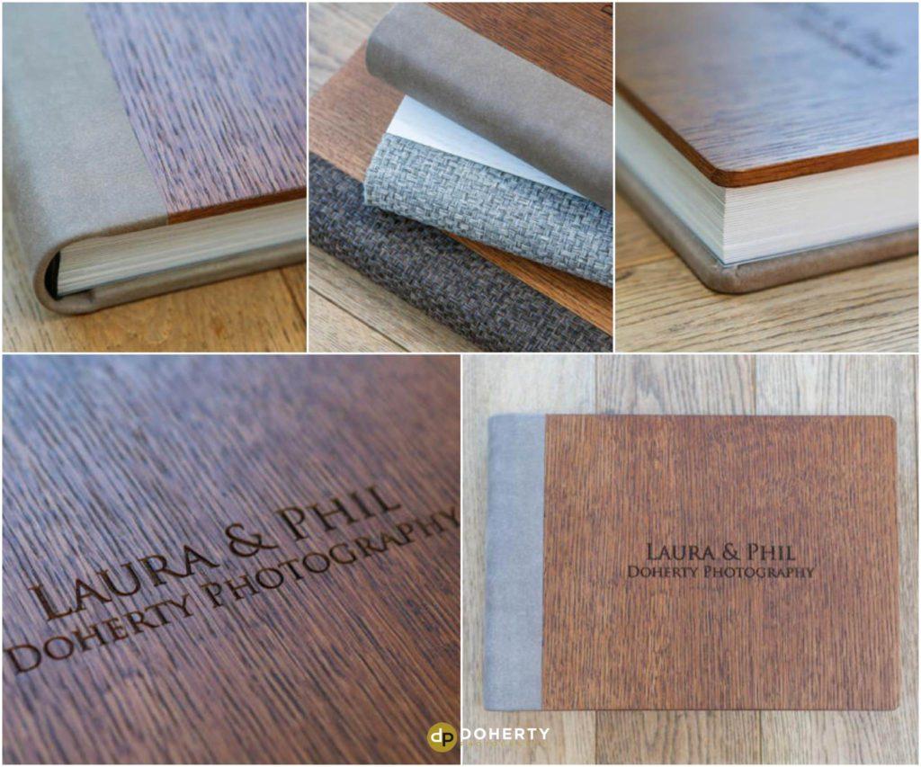 Dark oak wood album