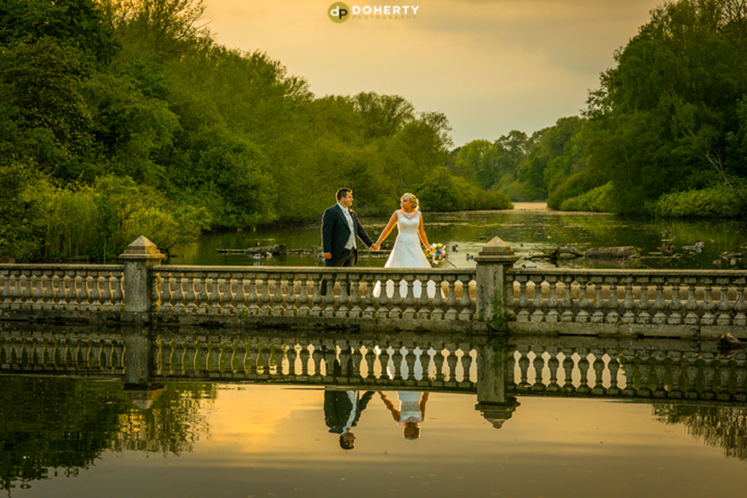 Coombe Abbey couple on bridge