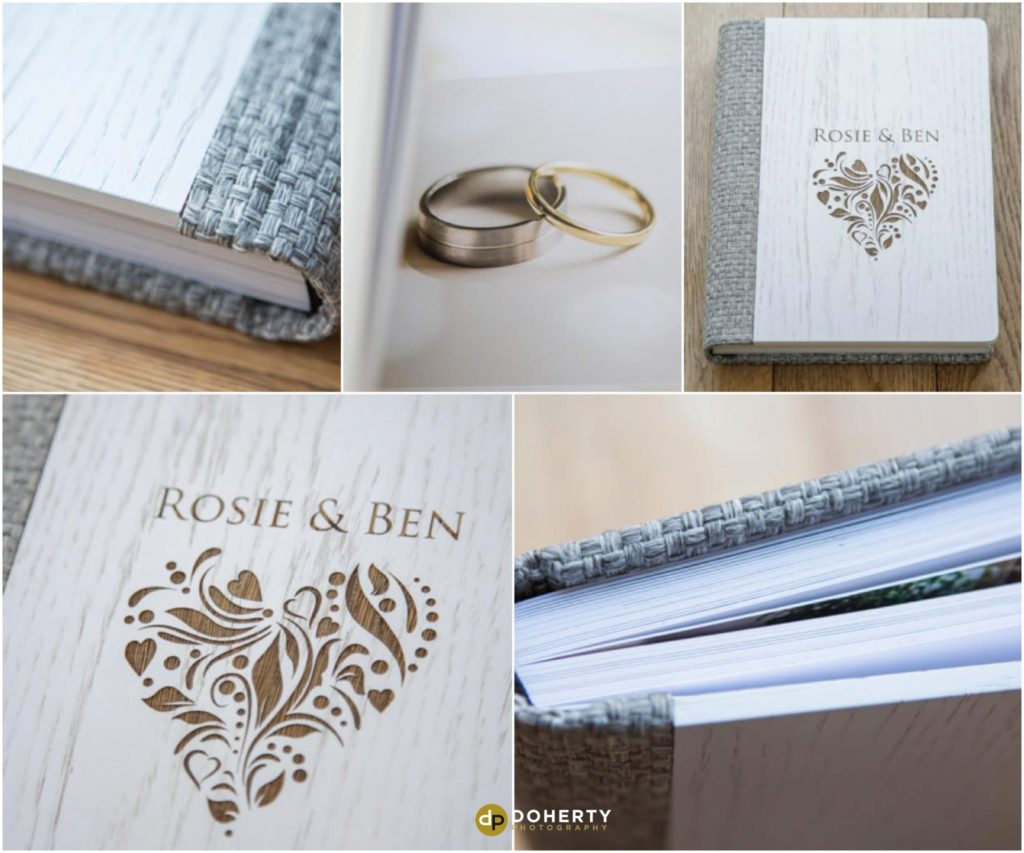 wooden cover storybook wedding albums