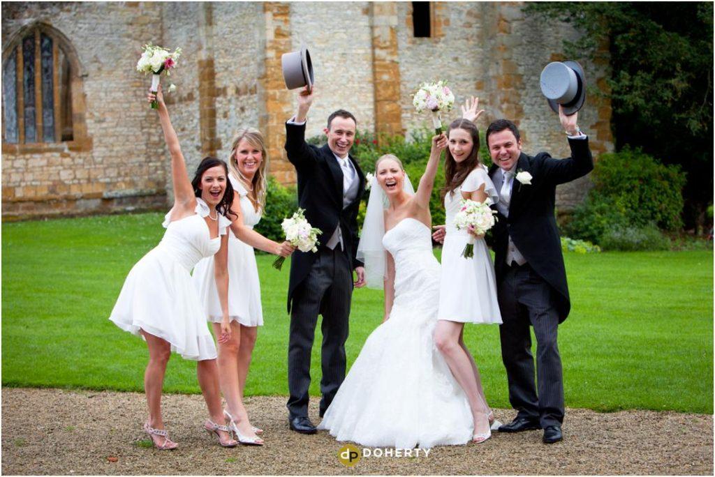 Bridal Party at Ettington Park wedding