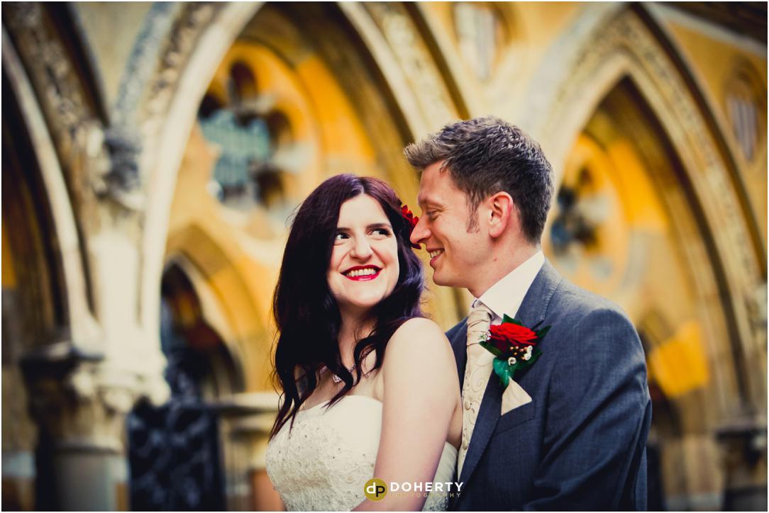 Ettington Park wedding couple